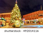 lonely streets in the old town... | Shutterstock . vector #492014116