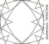 geometric seamless pattern.... | Shutterstock .eps vector #492017446
