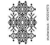 vector black and white...   Shutterstock .eps vector #492019573