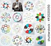 big set of vector arrows ... | Shutterstock .eps vector #492020350
