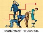 boss business career on the... | Shutterstock .eps vector #492020536