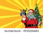 Santa Claus Christmas Tree And...
