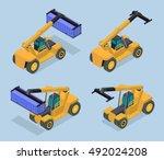 vector isometric illustration... | Shutterstock .eps vector #492024208