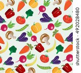 background with vegetables ... | Shutterstock .eps vector #492028480