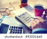 business brainstorm planning... | Shutterstock . vector #492031660