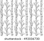 the trunks of trees drawn by... | Shutterstock .eps vector #492036730
