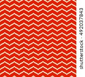 perfect seamless zig zag... | Shutterstock .eps vector #492037843