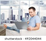 internet. | Shutterstock . vector #492044044