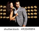 fashion photo of handsome ... | Shutterstock . vector #492049894