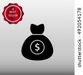 money bag vector icon...