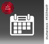 calendar vector icon... | Shutterstock .eps vector #492054649