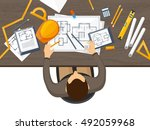 engineering and architecture... | Shutterstock .eps vector #492059968