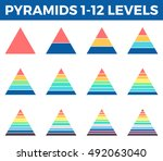 pyramids  triangles for... | Shutterstock .eps vector #492063040