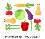 vegetables vector set... | Shutterstock .eps vector #492068314