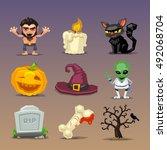 Funny Halloween Icons Set 4