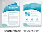 vector brochure flyer design... | Shutterstock .eps vector #492075349