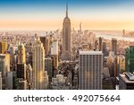 aerial view of the new york... | Shutterstock . vector #492075664