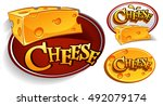 logo designs with cheese... | Shutterstock .eps vector #492079174