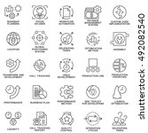 icons set of production... | Shutterstock .eps vector #492082540