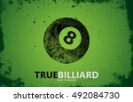 billiard. billiard logo design. ... | Shutterstock .eps vector #492084730
