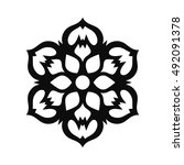 floral vector ornament for... | Shutterstock .eps vector #492091378