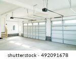 Small photo of Residential house garage interior