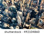 aerial view of the skyscrapers... | Shutterstock . vector #492104860