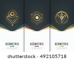 vector set of templates... | Shutterstock .eps vector #492105718