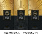 vector set of templates... | Shutterstock .eps vector #492105724