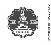 train logo badge | Shutterstock .eps vector #492109690