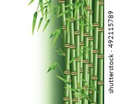 bamboo trunk with leaves design | Shutterstock .eps vector #492115789