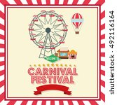 activities of carnival and... | Shutterstock .eps vector #492116164