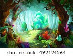 the legend of diamond and... | Shutterstock . vector #492124564