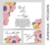 romantic invitation. wedding ... | Shutterstock . vector #492126646
