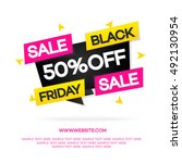 black friday sale banner for... | Shutterstock .eps vector #492130954