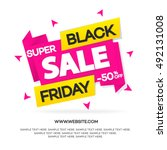 black friday sale banner for... | Shutterstock .eps vector #492131008