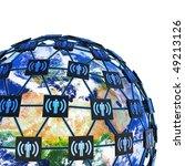 network around earth. hi res... | Shutterstock . vector #49213126