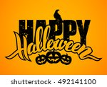 vector illustration  hand drawn ... | Shutterstock .eps vector #492141100