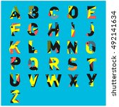 vector of colorful alphabet....   Shutterstock .eps vector #492141634