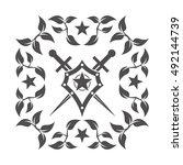 abstract vector icon   shield... | Shutterstock .eps vector #492144739