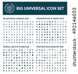 big icon set design clean... | Shutterstock .eps vector #492146053