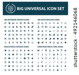 big icon set design clean... | Shutterstock .eps vector #492146068