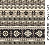 nordic tradition pattern | Shutterstock .eps vector #492147196
