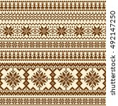 nordic tradition pattern | Shutterstock .eps vector #492147250
