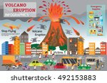 natural disasters that damage...   Shutterstock .eps vector #492153883