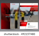 red business  annual report... | Shutterstock .eps vector #492157480
