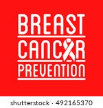 breast cancer awareness logo.... | Shutterstock .eps vector #492165370
