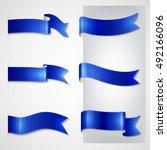vector ribbons set | Shutterstock .eps vector #492166096