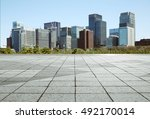 empty marble floor with... | Shutterstock . vector #492170014