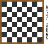 empty chess board. wooden chess ... | Shutterstock .eps vector #492174484